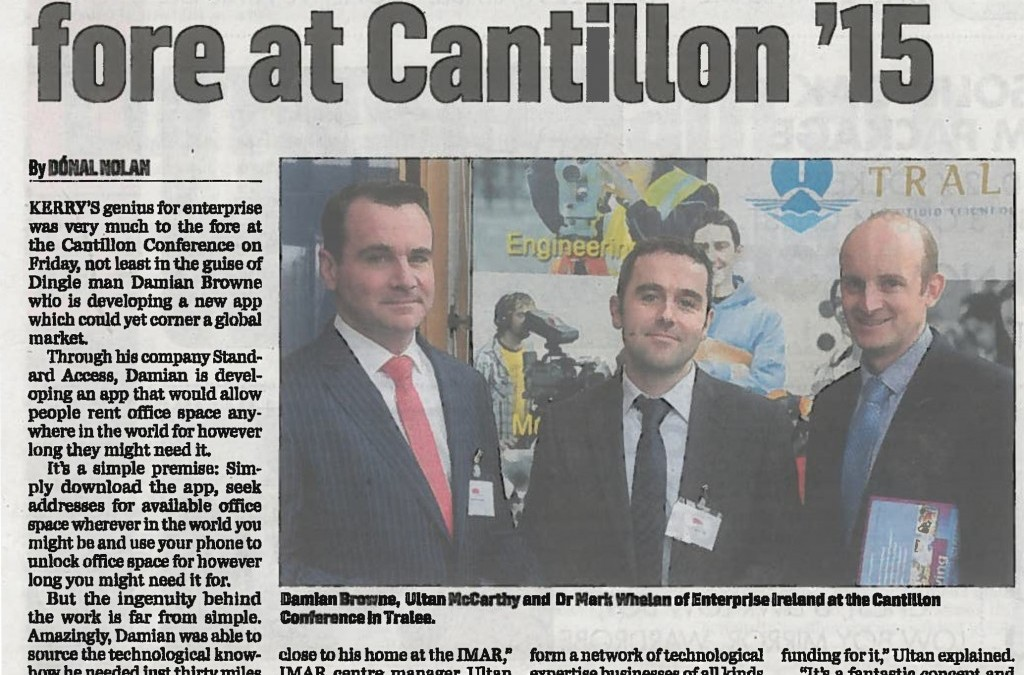 IMaR technology Gateway unlocks success for local company: Standard Access at Cantillon '15