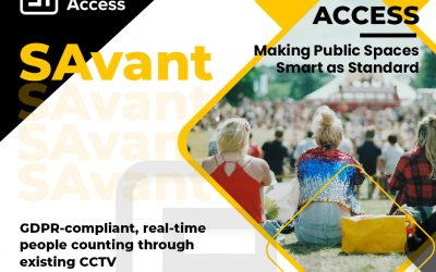 SAvant: GDPR-compliant, real-time people counting through existing CCTV